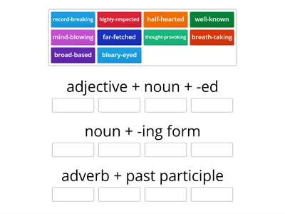 Compound adjectives Ex.3 p.69