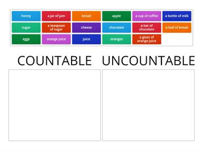 countable / uncountable 2