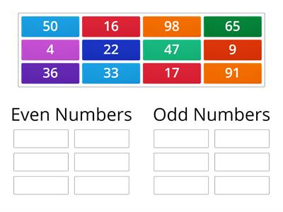 sorting odd and even numbers