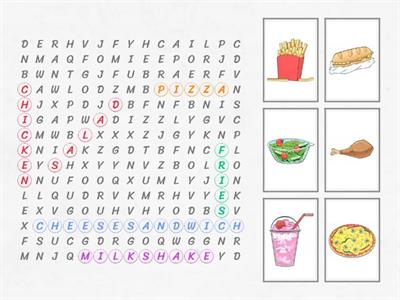 Find the word and match it with the picture