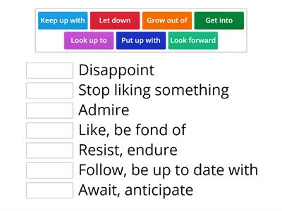 Phrasal verbs n meanings