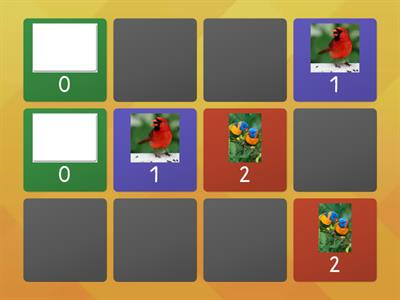 Birds number matching 0-5