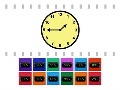 Reading Clock (45-minute) - Find the Match