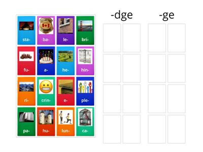-dge/-ge group sort