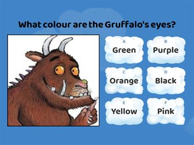 The Gruffalo quiz