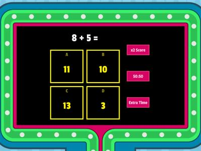 Copy of Math Facts Within 20 Game Show (addition)