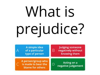 Revision Quiz for Prejudice