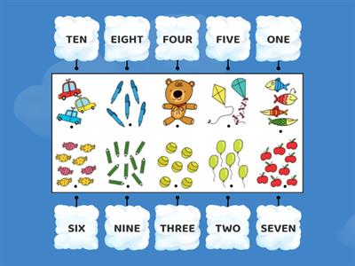 REVISION - Numbers 1-10 COUNTING