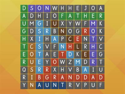 My family_ wordsearch