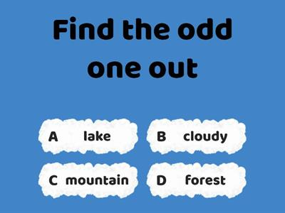 prepare 2 Review 4 Ex 1 Vocabulary Find the odd one out