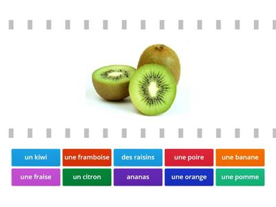 match the french word to the fruit