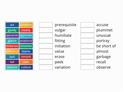 Thesaurus match words