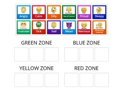 Copy of Zones of Regulation Game