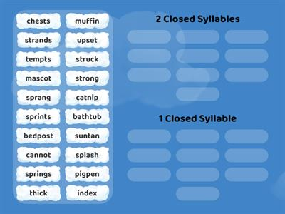 Wilson 3.1 Closed Syllable Words