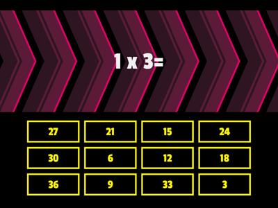 3 times table quiz
