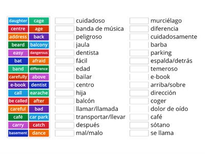 Vocabulario Cambridge