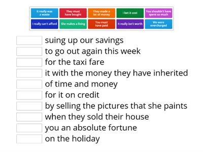idioms and fixed phrases (money)