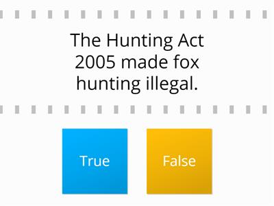 True or false1 Statements about fox hunting #SEWALES