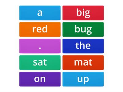 Moveable tiles sentences
