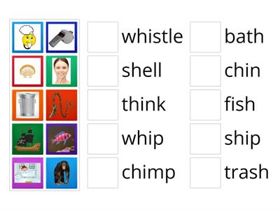 Digraph picture / word match