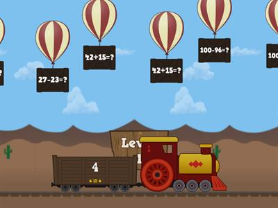 Math Baloon Pop Plus and Minus to 100 Super Hard!
