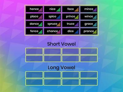 -ce with short and long vowels