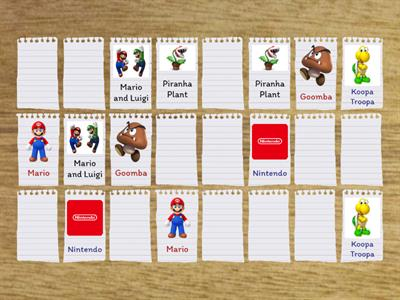 Nintendo Matching Card Game