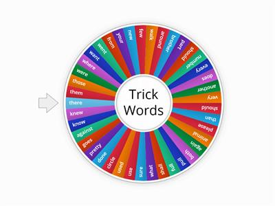 Trick Words 2nd Grade