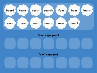 2 sounds of 'ear'