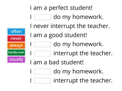 Elementary adverbs of frequency.
