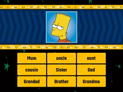 Simpsons FAMILY - Find the match