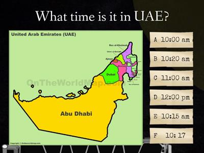 The time in UAE