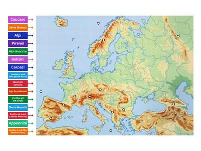 Cartina Europa Orientale Fisica.Geografia Fisica Rilievi Europa Risorse Per L Insegnamento
