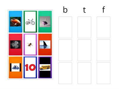 Beginning Sounds Picture Sort t/b/f