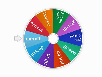 Phrasal verbs - the wheel