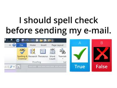 Rules for using e-mails