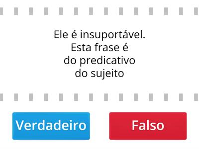 Predicativo do sujeito e do objeto