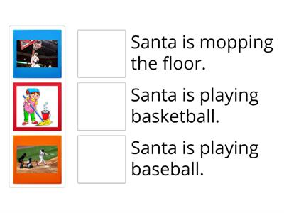 What is Santa doing? 2 Sports