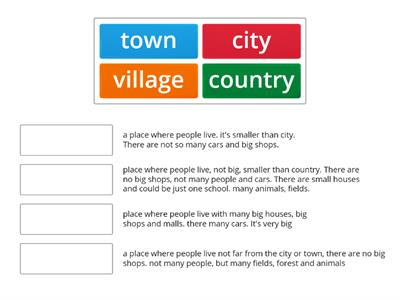 City|village|town|country