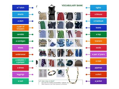 1C Vocabulary Clothes