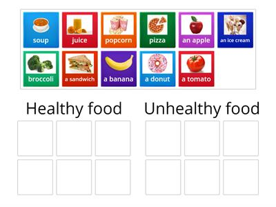 healthy/unhealthy food
