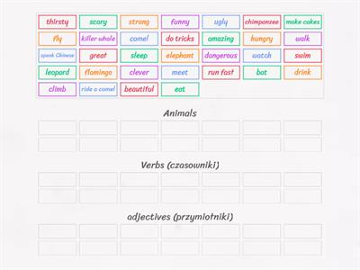 JE 4 unit 6 (animals, verbs, adjectives)