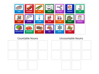 Countable & Uncountable Nouns - 3