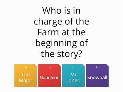 Animal Farm whole text AO1 quiz