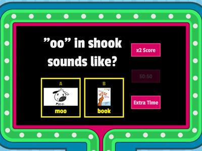 "2 Sounds of ""oo"" Gameshow Quiz"