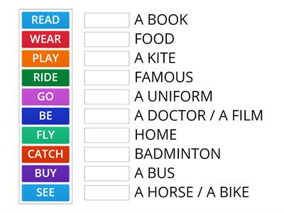 verbs collocations 1