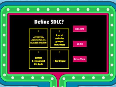 System Development Cycle (SDLC)