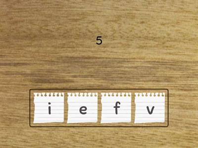 wooden Numbers 1-5