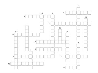 ORÓ - unit 1 feelings and emotions - crossword