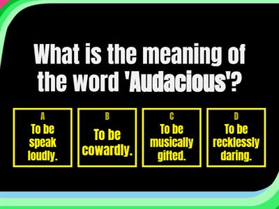 Word of the week quiz (word meanings)